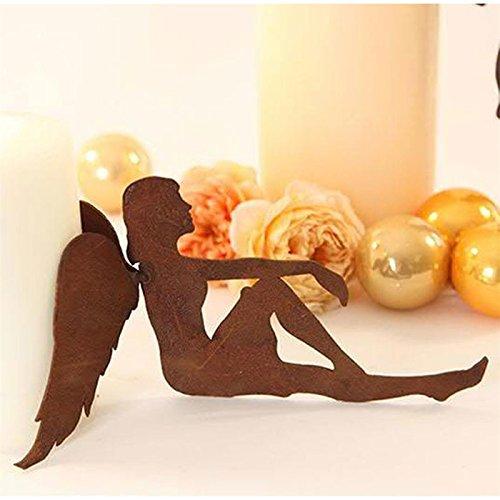 Klocke Deko klocke 64787 rost anrtik look deko engel weihnachtsengel sitzend