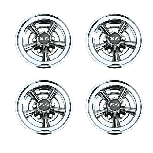 World 9.99 Mall Golf Cart SS Wheel Covers Hub Caps for Yamaha/Club CAR/EZ-Go Par Car 8