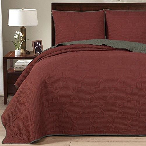 dark red quilt - 1