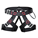 UNIQUEBELLA Thicken Professional Climbing Harness Safe Seat Belt for Rock Fire Rescue High Level Caving Climbing Adjustable Rappelling Equipment Half Body