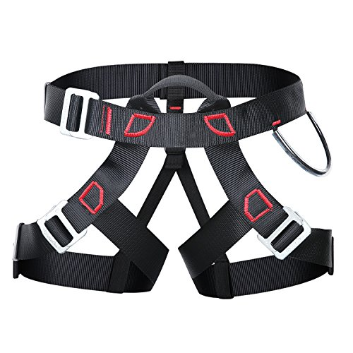 Uniquebella Thicken Professional Climbing Harness Safe Seat Belt for Rock Fire Rescue High Level Caving Climbing Adjustable Rappelling Equipment Half Body (Quick Harness Rappelling)