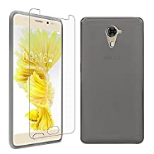 """BLU LIFE ONE X2 MINI Case + Screen Protector, Gzerma Soft Shock-Absorbing TPU Durable Protection Ultra Slim Fit Back Cover and Shatter-proof Protective Film for BLU LIFE ONE X 2 MINI 5.0"""" Unlocked Smartphone 4G LTE (Gray)"""