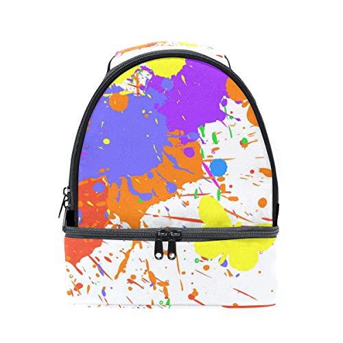 Alinlo Abstact coloré Papillon Boîte à lunch Sac isotherme Cooler Tote avec bandoulière réglable pour Pincnic à l'école