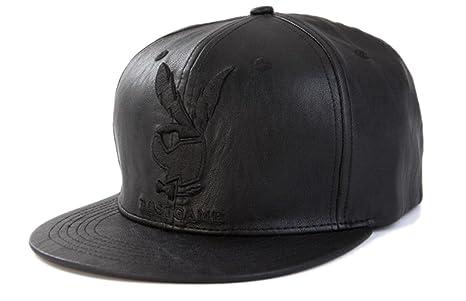 Thenice - Gorra de béisbol para hombre de piel sintética, negro ...