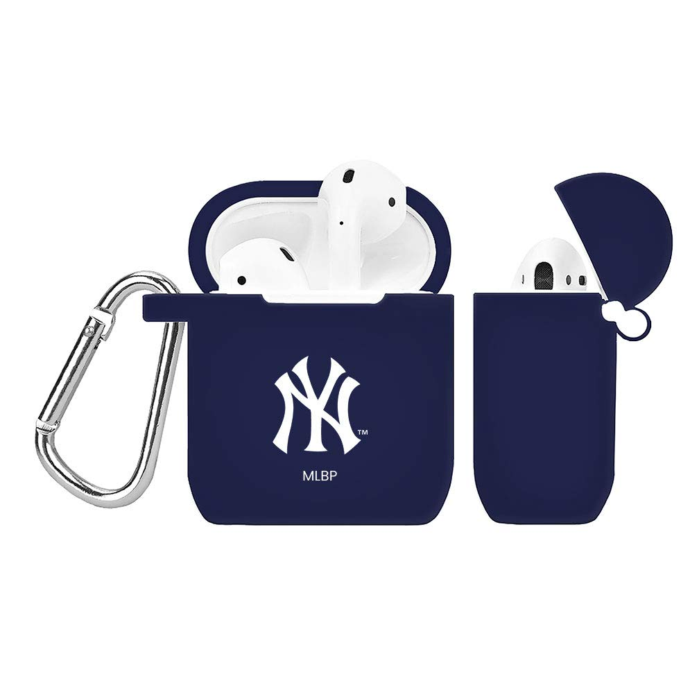 GAME TIME New York Yankees Silicone Case Cover for Apple AirPods Battery Case Navy Blue