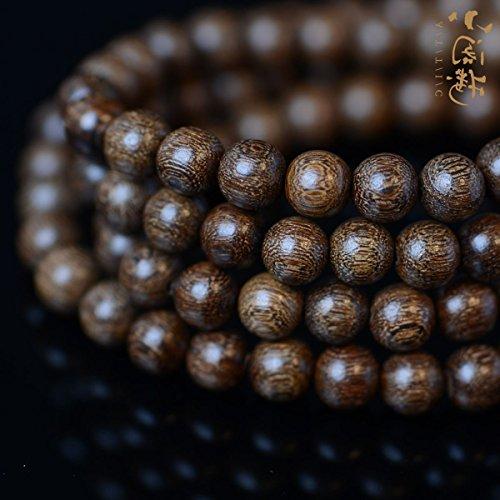 Sandalwood prayer beads bracelets gold Phoebe gloomy ebony wood inlay men women retro court did not spot a couple bracelets