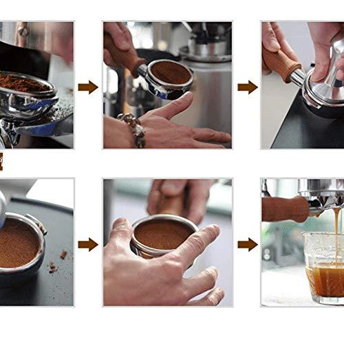 S.S.H.Z Food Grade Espresso Coffee Tamper Blue Coffee Tamper Machine Press Flat Base Barista Accessories 51mm (Color : BianTou 51mm)