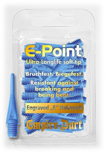 6 mm 30 Empire E-Point Puntas cortas azul 2 BA delgado