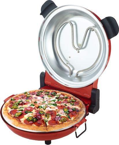 Sirge OSOLEMIO Horno para pizza, color rojo 1200 W - 400 °C ...