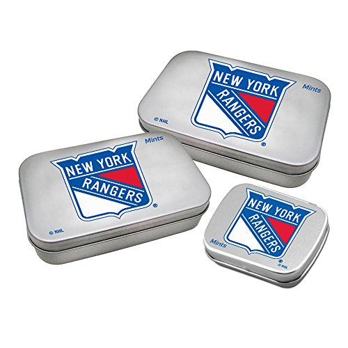 Worthy Promotional NHL New York Rangers Decorative Mint Tin 3-Pack with Sugar-Free Mini Peppermint Candies