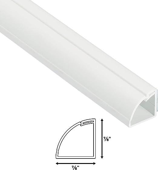 D Line Quarter Round Cable Raceway Cord Cover Floor Trim Paintable White 5 Foot 0 87 X0 87