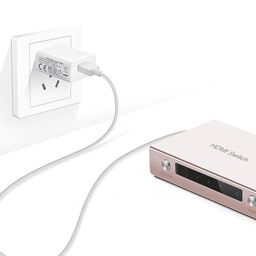 BENSN 5 Pack USB A Macho a DC 3,5 x 1,35 mm Cable de alimentación, 5 V Cable de Carga para Nextbook-Ares Tablet 11, 11A, Flexx 10 10,1
