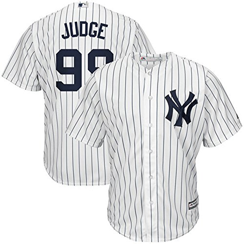 Majestic Athletic Aaron Judge New York Yankees #99 Mens Baseball Player Jersey - White Size XXL by Majestic Athletic