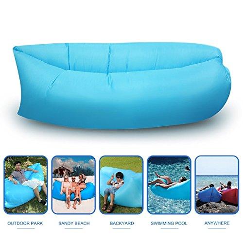 LingAo Outdoor Inflatable Hangout Portable Bag Lounger Nylon