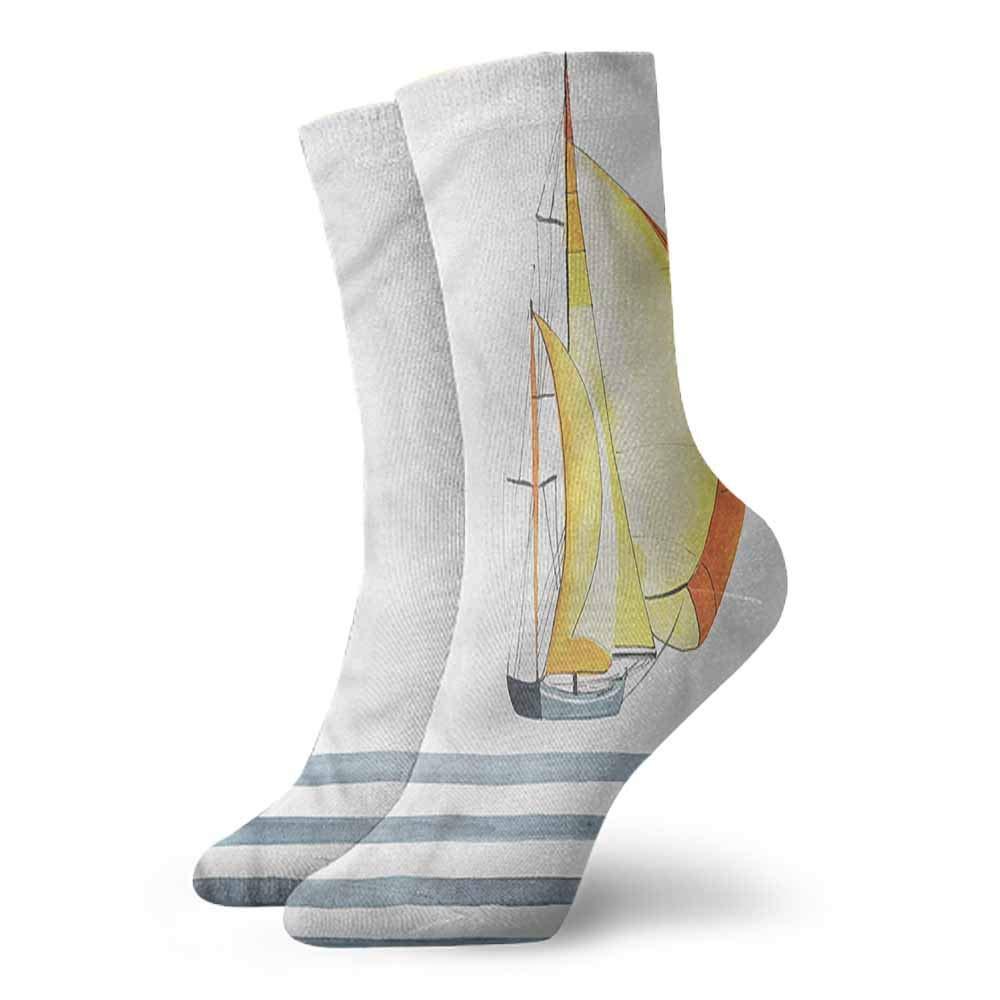 Socks Cute Nautical,Ship on Ocean Sunrise,socks men pack