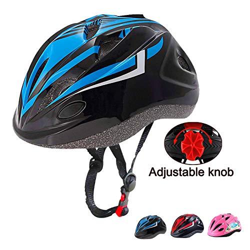 Oeyliz Kids Bike Helmet Toddler Bicycle Helmet Adjustable Multi-Sport Safety Helmet Ages 3 to 8 Boys Girls CPSC Certified Kids Bicycle Helmets for Cycling Skateboard Bicycle Scooter (Black Blue)