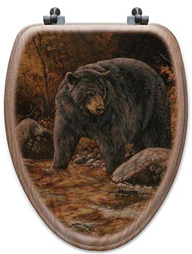 (WGI-GALLERY TS-E-SSB Streamside Bear Elongated Toilet Seat )