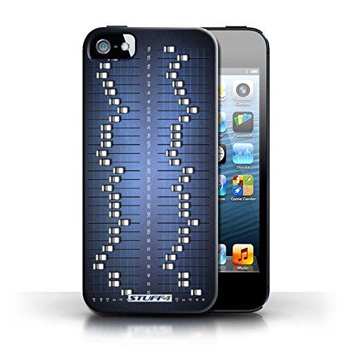 KOBALT® Hülle Case für Apple iPhone 5/5S   Grafik-Equalizer/EQ Entwurf   Retro Techik Kollektion