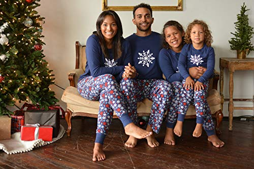 06197e1e55 Sleepyheads Holiday Family Matching Winter Navy Snowflake Pajama PJ Sets -  Mens (SHM-4034