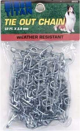 Coastal Pet Titan Weather Resistant Outdoor Tie Out Chain for Dogs (2.5 mm x 10 ft.) by Coastal Pet