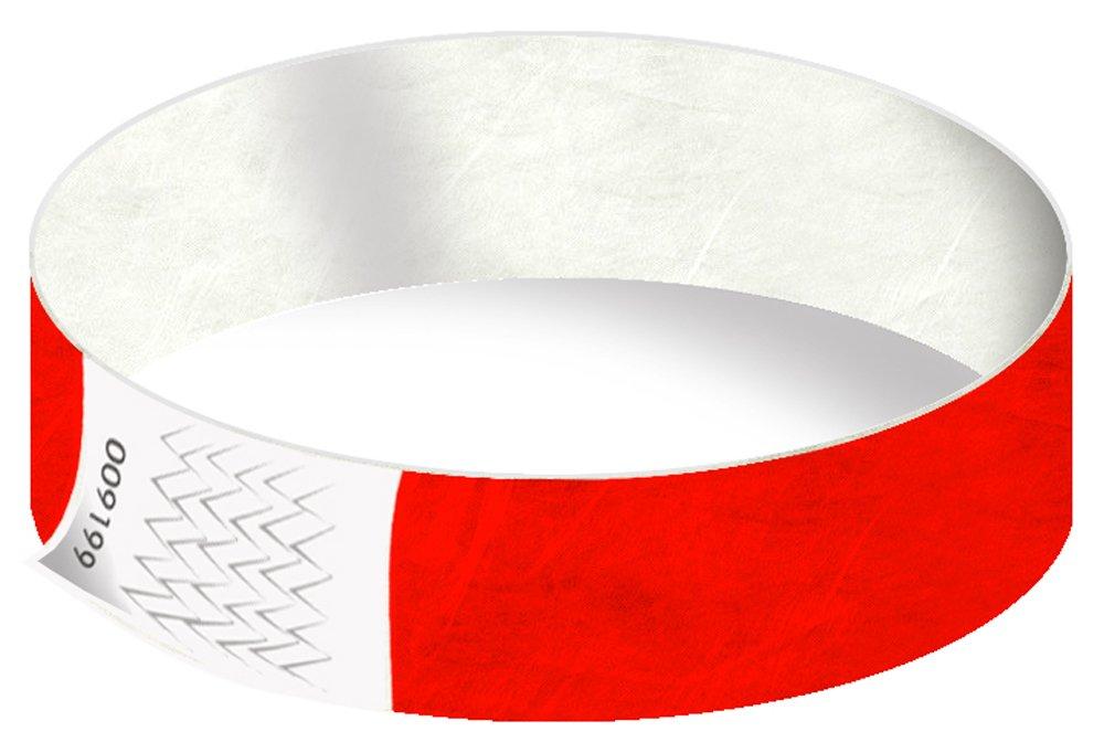 19 mm Sicherheitsb/änder Secureb/änder VIP-B/änder wasserfest Rot, 100 St/ück rei/ßfest Eintrittsb/änder in 22 Farben Festivalb/ändchen Tyvek-Kontrollb/änder sicher Einlassb/änder Partyb/änder