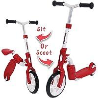 MammyGol Adjustable Handle Folding LED Spray Jet Scooter for Kids