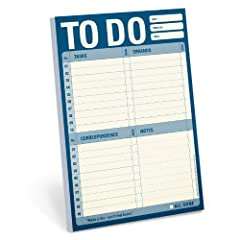 Making a list of things to do is one of the few chores both essential for organized productivity and delectable for leisurely procrastination. A stylish reinterpretation of the stressed-out classic, Knock Knock's To Do Pad all but guarantees ...