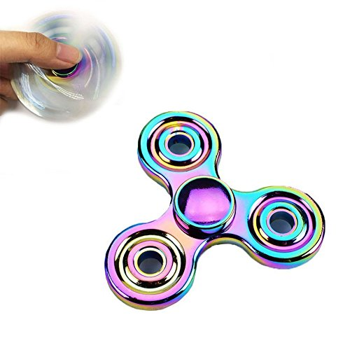 Ysiop Twiddle Tri Spinner Hand Toy for Fidget,Gadget Spinners with Imported - Infinity Glasses Frames