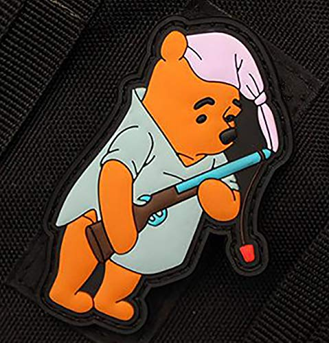 Winnie The Pooh Morale Patch Tactical Rubber/PVC Hook and Loop Style - Ships Free from USA - Veteran Owned