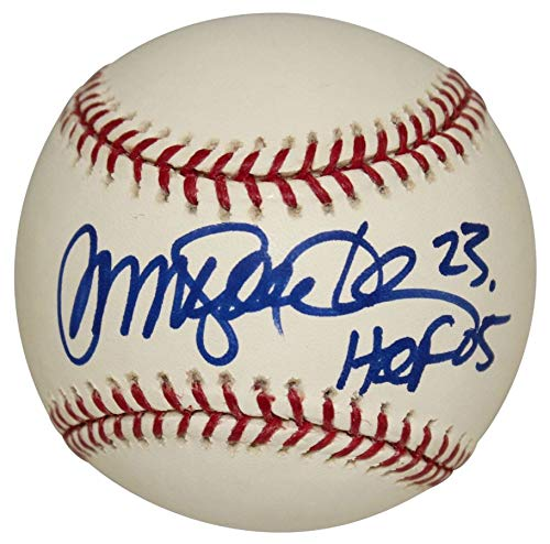 Ryne Sandberg Autographed Signed Rawlings Official Major League Baseball - Blue Sharpie with HOF 05 Inscription - PSA/DNA