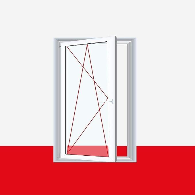 ALLE GR/Ö/ßEN BxH:60x70 cm DIN Links Dreh-Kipp Premium 3 fach Verglasung Fenster Kellerfenster Kunststofffenster wei/ß