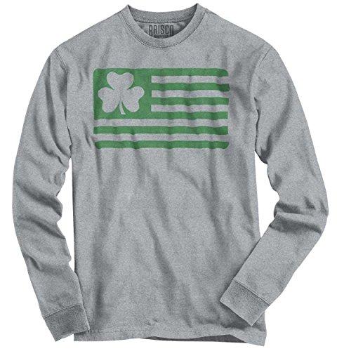 Saint Patricks Day Funny Shirt Shamrock Flag Cool Gift Patty Long Sleeve T-Shirt Adult Shamrock Tee T-shirt