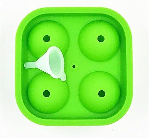 Molde de helado para cubitos de hielo, 4 agujeros, forma de balón ...