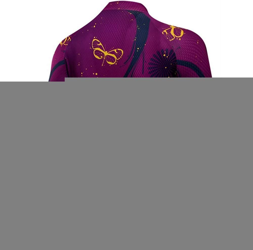 Qianliuk Mujeres Anti Sudor Secado r/ápido Manga Corta Ciclismo Jersey con Bolsillos Flor Impreso Cremallera Completa Ciclismo Ropa de monta/ña Bicicleta Camiseta de Bicicleta