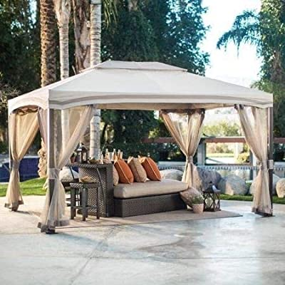 Jjoy- Patio Tents and Canopy Gazebo with Walls-13 x 10 ft.-Provide Cool Shade On Those Sweltering Summer Days : Garden & Outdoor