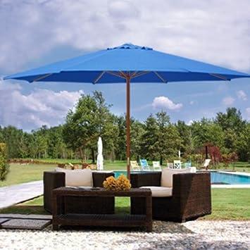 13 Foot Market Patio Umbrella Outdoor Furniture Blue