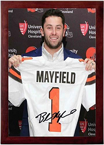 Baker Mayfield Autograph Replica Super Print - Number 1 Draft Pick - Portrait - Framed