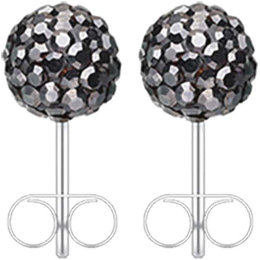 20G Pink Multi-Sprinkle Dot Multi Gem Ball Inspiration Dezigns Ear Stud Earrings