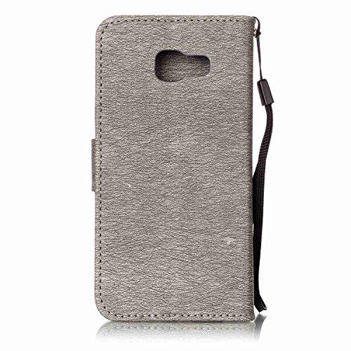 """iPhone 7 Plus Hülle Tasche Schutzhülle Case Cover Bumper Geldbeutel und Anti-Scratch Löschen Back für Apple iPhone 7 Plus 5.5 Plus"""" Grau"""