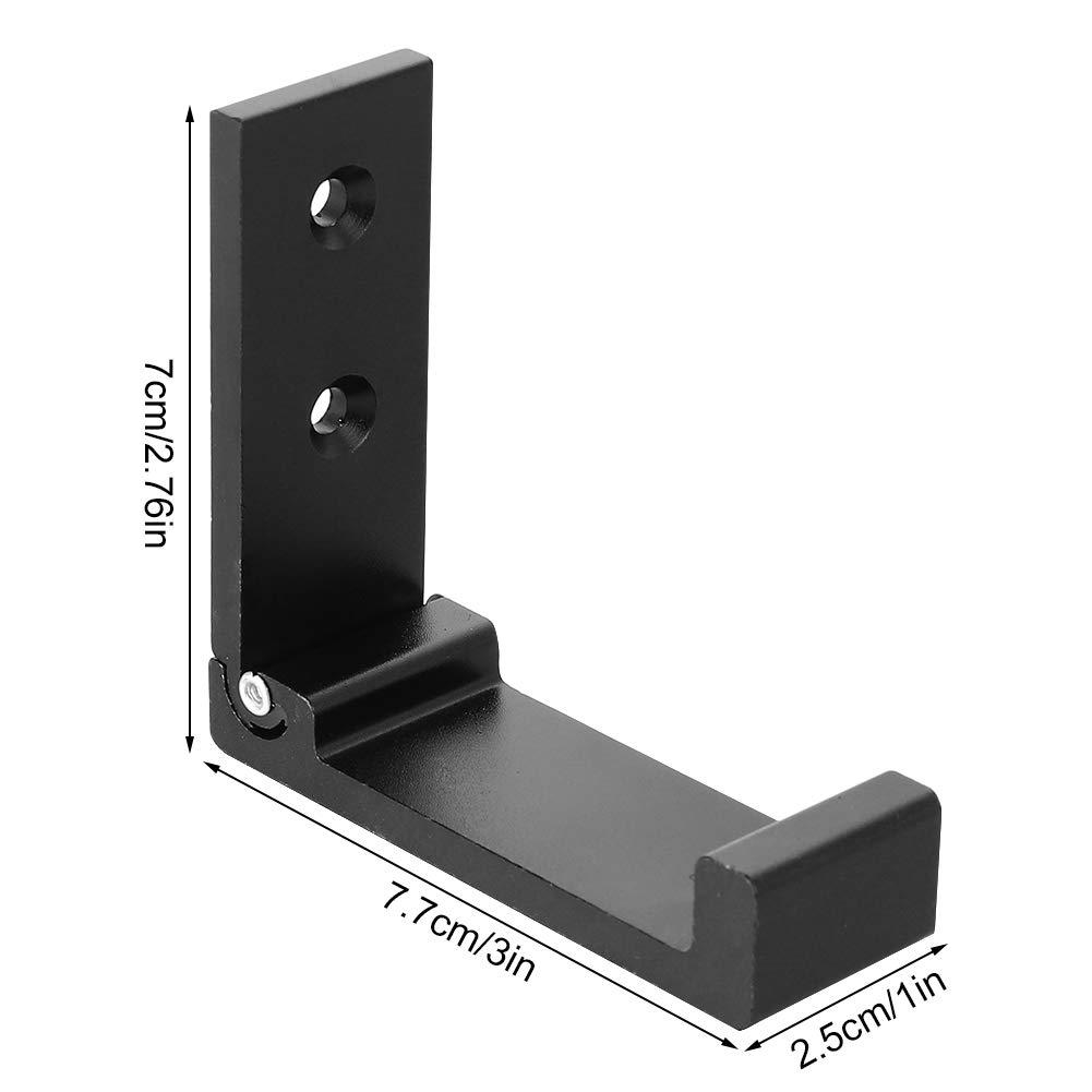 Yumi V 4PCS Gancho de Pared Plegable Soporte de Auriculares con Gancho de Montaje en Pared Plegable de Aluminio Invisible