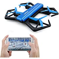 JJRC H43WH Wifi FPV RC Drone with 720P HD Camera Auto Beauty Mode, 360° Tumble, Barometer Altitude Hold, Headless Mode, G-sensor Mode iOS Android APP Control