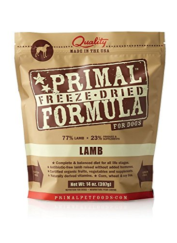 Primal Pet Foods Freeze-Dried Canine Lamb Formula, 14 oz (Pack of 2)