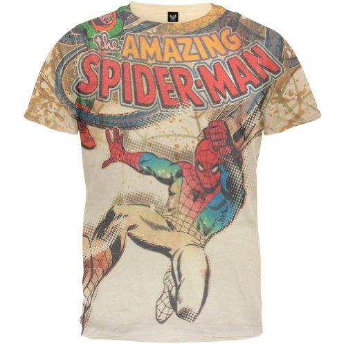 Spider-Man - Villain Battle All-Over T-Shirt - X-Large Off-White