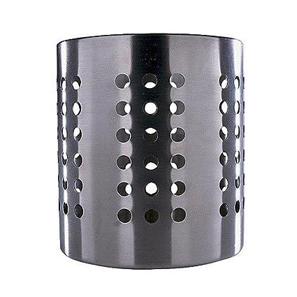 Ikea Ordning Escurrecubiertos, Acero Inoxidable, Negro, 12x14x14 cm