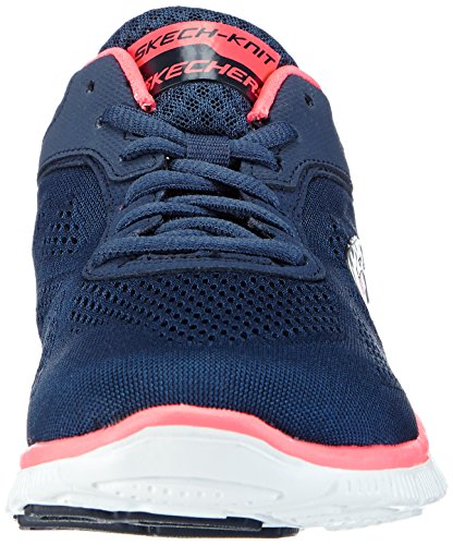 Skechers Femmes Skechers Dames Flex Appeal Aiment Vos Baskets Dentrainement Style Black Black / Hot Pink