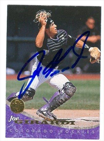 (Autograph Warehouse 40505 Joe Girardi Autographed Baseball Card Colorado Rockies 1994 Leaf No.)
