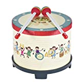Ammoon 8 Inch Wooden Floor Drum Gathering Club Carnival Percussion Instrument with 2 Mallets for Kids Children