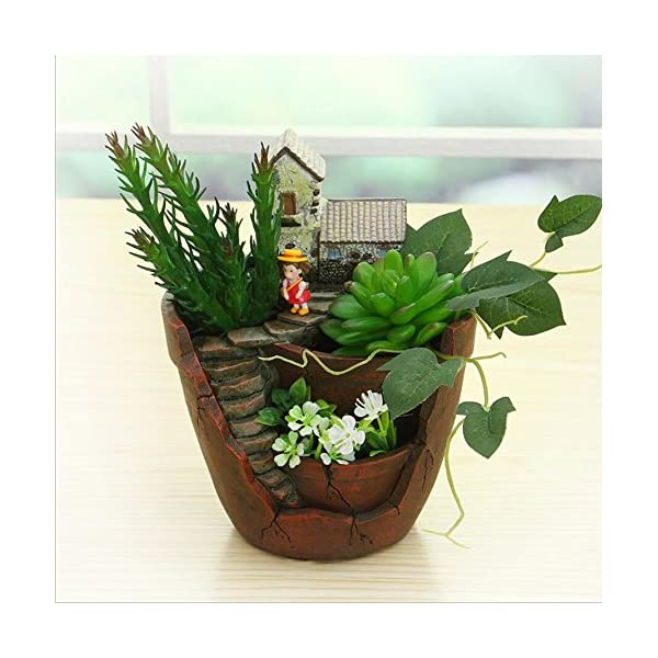 Nwfashion Garden Pot Garden And Sweet House For Holiday Decoration And Gift Planter Flower Pot