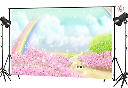 LB 7x5ft Rainbow Photography Backdrop Fairy Tale Background for Kids Children Customized Photo Studio Backgrounds Props]()