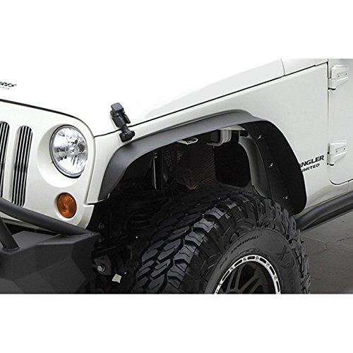 Opar Front & Rear Fender Flares for 07-18 Jeep Wrangler JK & Wrangler Unlimited - Set